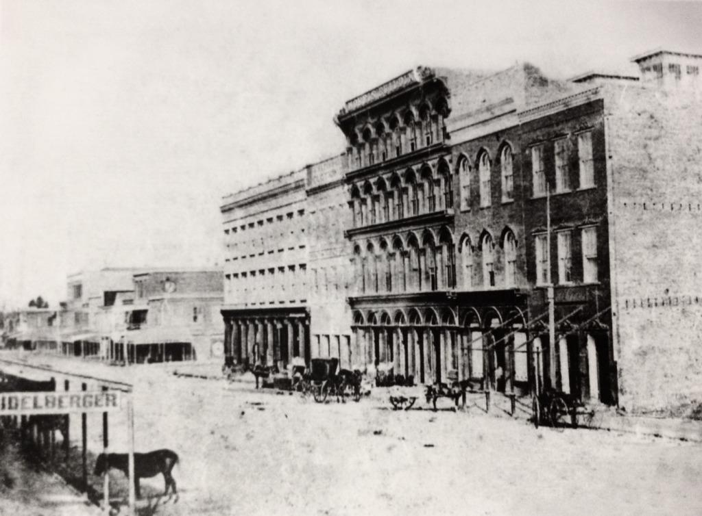 300 block of Main Street in 1866 (near Market Square)