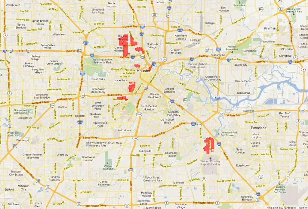 Houston's 20 Historic Districts in 2013.